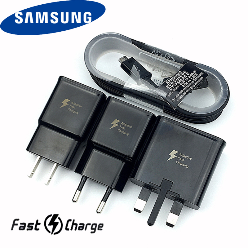Original <font><b>Samsung</b></font> Fast <font><b>Charger</b></font> 9V1.67A charge adapter 100cm/120cm/150cm USB Micro cable For <font><b>Galaxy</b></font> s6 s7 <font><b>a7</b></font> a5 a3 2016 note 4 5 6 image