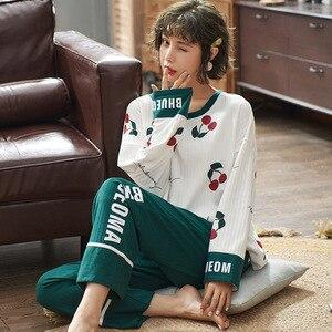 Image 5 - Vrouwen Kleding Herfst Winter Pyjama Sets Nachtkleding Mooie Pijamas Mujer Lange Mouwen Katoen Sexy Pyjama Vrouwelijke Leuke Homewear