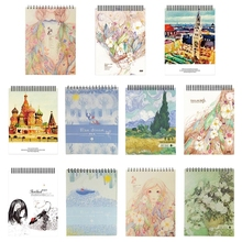 Notepad Notebook-Sketchbook Watercolor A4 Paper Drawing Painting Artist for Diary Journal