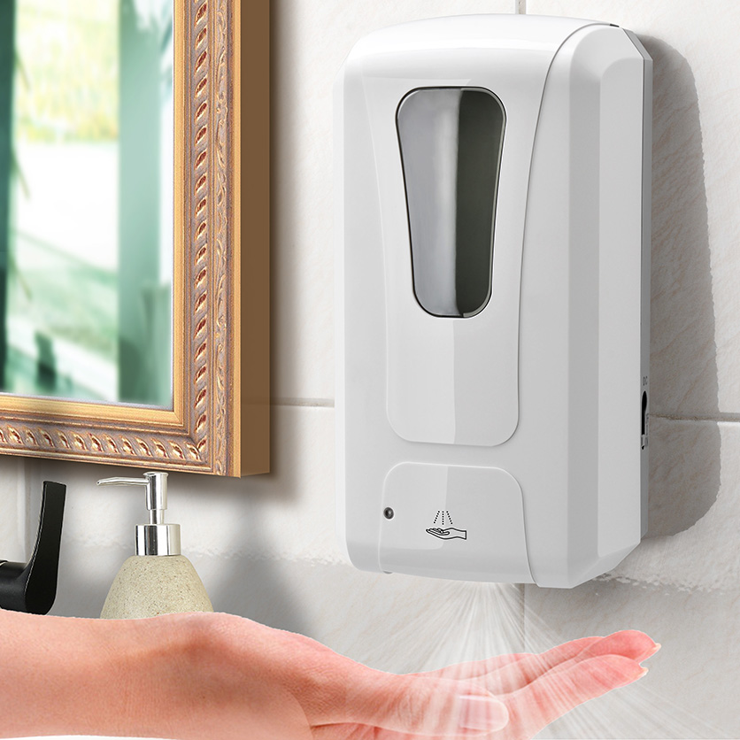 Touchless Hand Sanitizer Alcohol Disinfection Automatic Soap Dispenser Wall Mounted Sensor Spray Mist For Hospital School Home