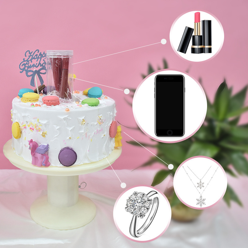 New Novelty & Gag Toys Happy Birthday Cake Stand Pop With Surprise Gift Box Magic Cake Standing Cool Toy