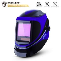 DEKO MZ232 Solar Powered Welding Helmet Auto Darkening Professional Hood Wide Lens Adjustable Shade Range 4/9-13 for Mig Tig