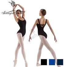 Frete grátis adulto tanque preto ballet collant para trajes de dança meninas roupas de balé para mulheres ginástica collant cs0109