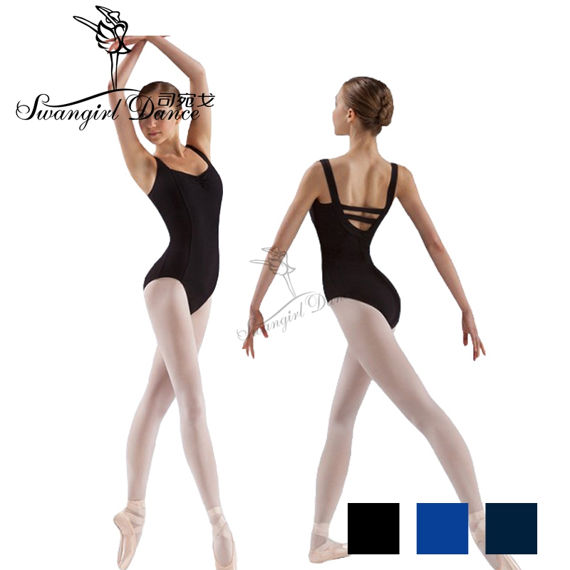 Free Shipping Adult Tank Black Ballet Leotard For Dance Costumes Girls Ballet Clothes For Women Gymnastics Leotards CS0109