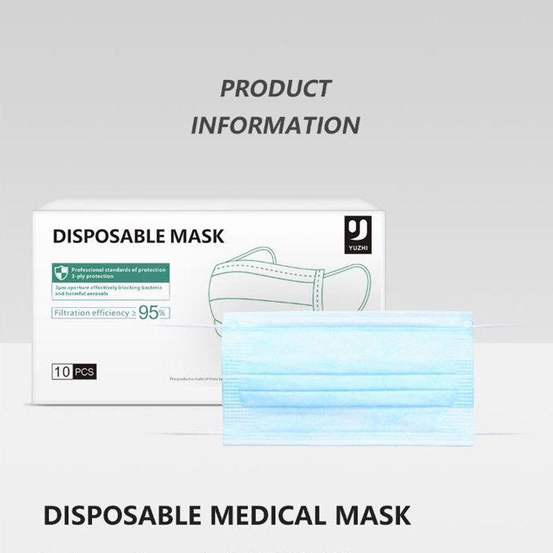 10/30/50PCS 3 Layer Disposable Medical Protective Face Mouth 