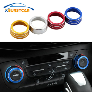 Xburstcar for Ford Focus 3 MK3 Focus 4 MK4 2015 - 2017 Sedan Hatchback ST Car AC Heat Control Switch Knob Ring Cover Accessories