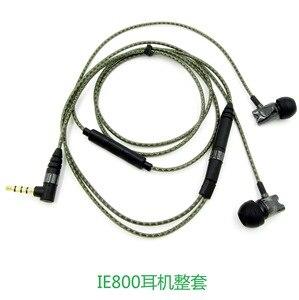 Image 5 - 1m באיכות גבוהה החלפת הארכת סטריאו אודיו כבל כבל עבור Sennheiser IE800 כלומר 800 אוזניות אוזן ניצן