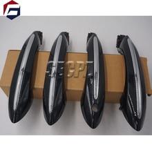 สีดำสีสบายประตู handle สำหรับ BMW 5 series F11 520d 520i 523i 525d 528i 530d 51217231931 51217231932 51217231