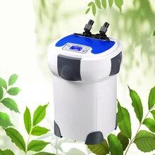 3000L/h SUNSUN HW-3000 ЖК-дисплей Дисплей 4-х ступенчатый внешний фильтр для аквариума с 9 Вт УФ стерилизатор для аквариума до 300-750L