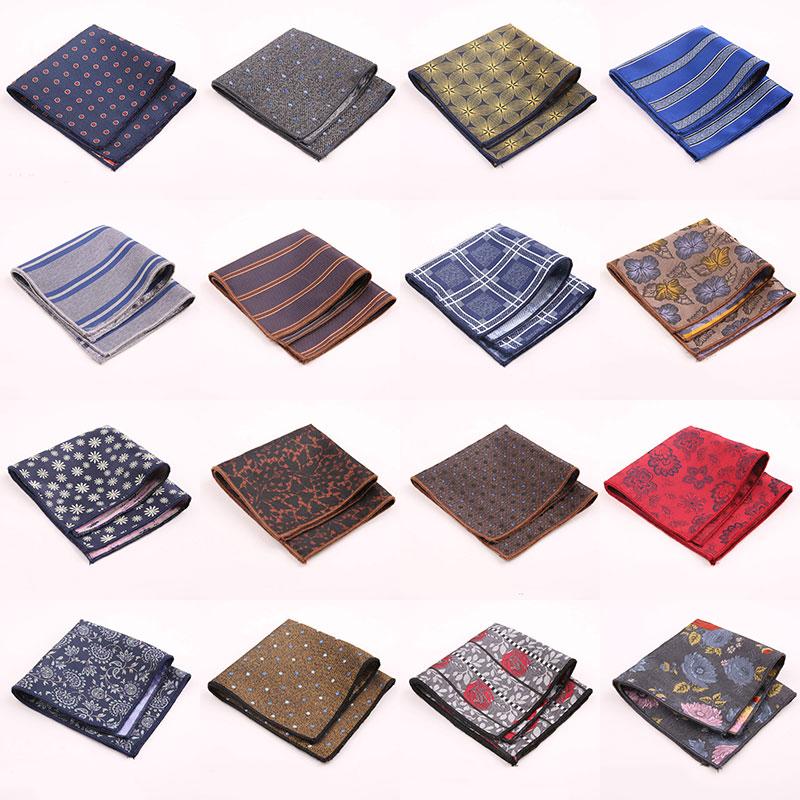 New Arrival Vintage Men British Design Floral Print Pocket Square Handkerchief Chest Towel Suit Accessories