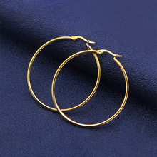 Stainless Steel Small Medium Large  Hoop Earring for Women Gold and Silver Color Fashion Jewelry  Wholesale Ear Accessories  NEW