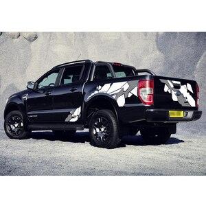 Наклейки для автомобиля, кузова, задней двери, геометрические графические виниловые наклейки для автомобиля, подходят для ford ranger 2012 2013 2014 2015...