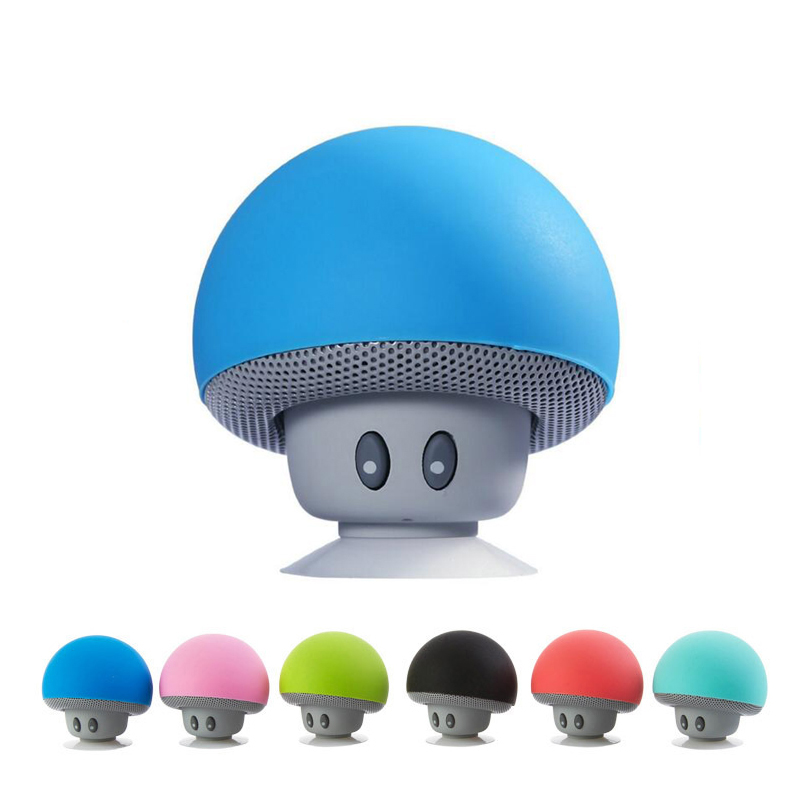 WPAIER Cartoon Pilz Drahtlose <font><b>Bluetooth</b></font> lautsprecher wasserdichte sucker mini <font><b>bluetooth</b></font> lautsprecher audio <font><b>outdoor</b></font> tragbare Halterung image