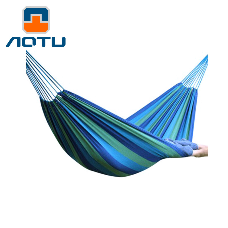 Bump Outdoor Leisure Hammock Widened Thick Canvas Double Hammock Indoor Park Camping Adult AT6714