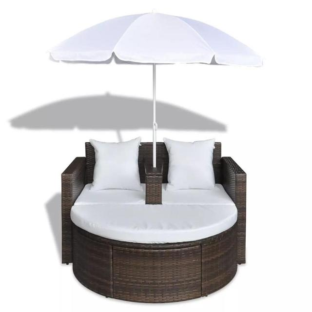 Outdoor Patio Canopy Cushioned Daybed  1
