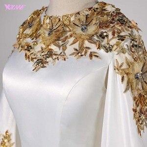 Image 4 - فساتين سهرة طويلة كلاسيكية في دبي لعام 2020 فساتين رسمية للحفلات من الساتان مزين بكريستال Vestidos Robe De Soiree