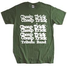 Camisa masculina do presente do tshirt da marca dos homens 1982 barato truque tour t camisa 80s t empilhado logotipo concerto rock presente superior camiseta masculina