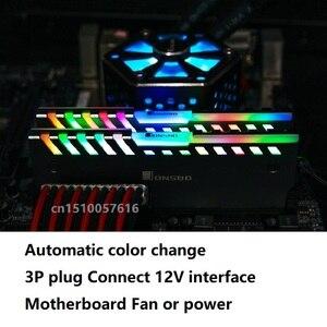 Image 5 - 2PCS RAM Heatsink Cooler Shell 256 Color Automatic Change Aluminum Heat Sink  Desktop Memory Cooling Vest NC 2
