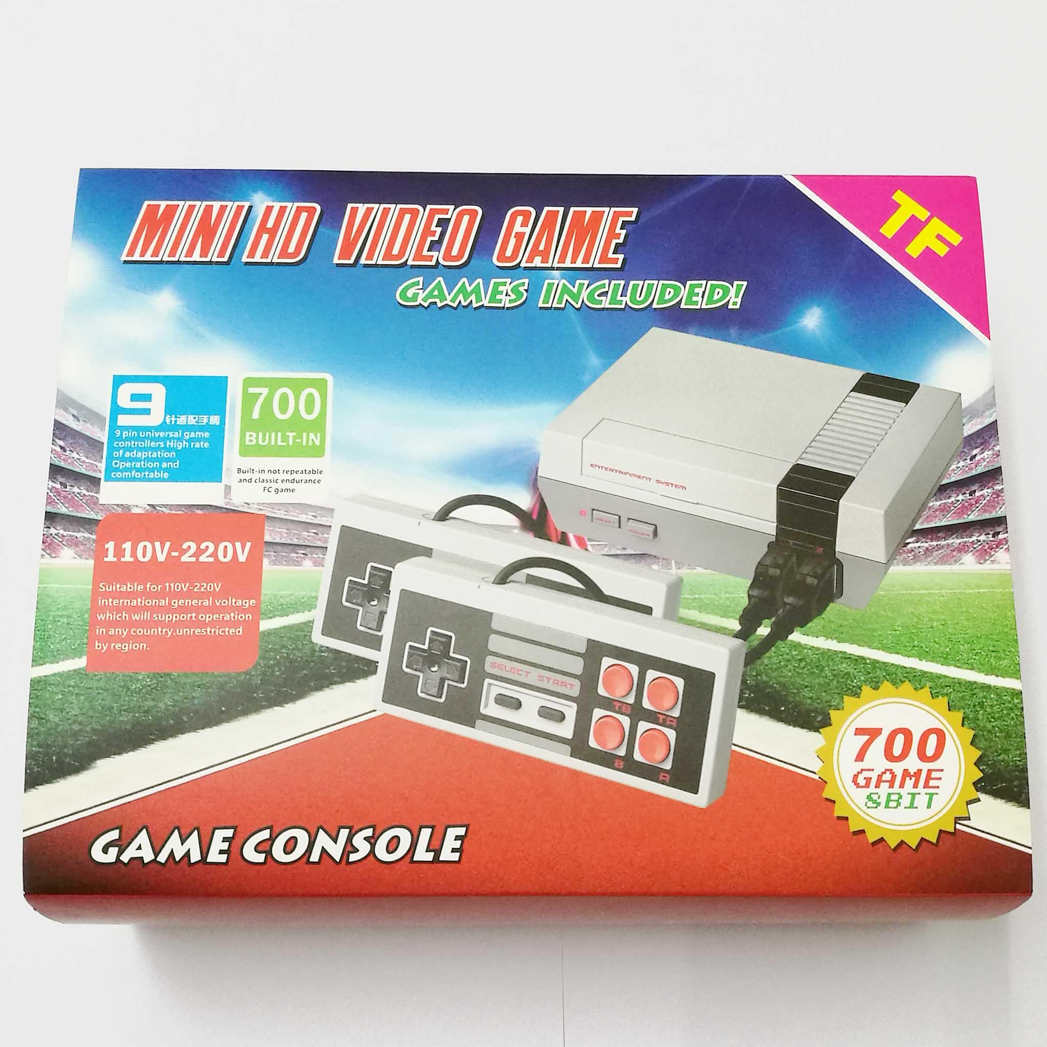 Built-in 700 Games Video Console 8Bit Mini TV Handheld Retro Game Console Handheld Retro Gaming Player TF card