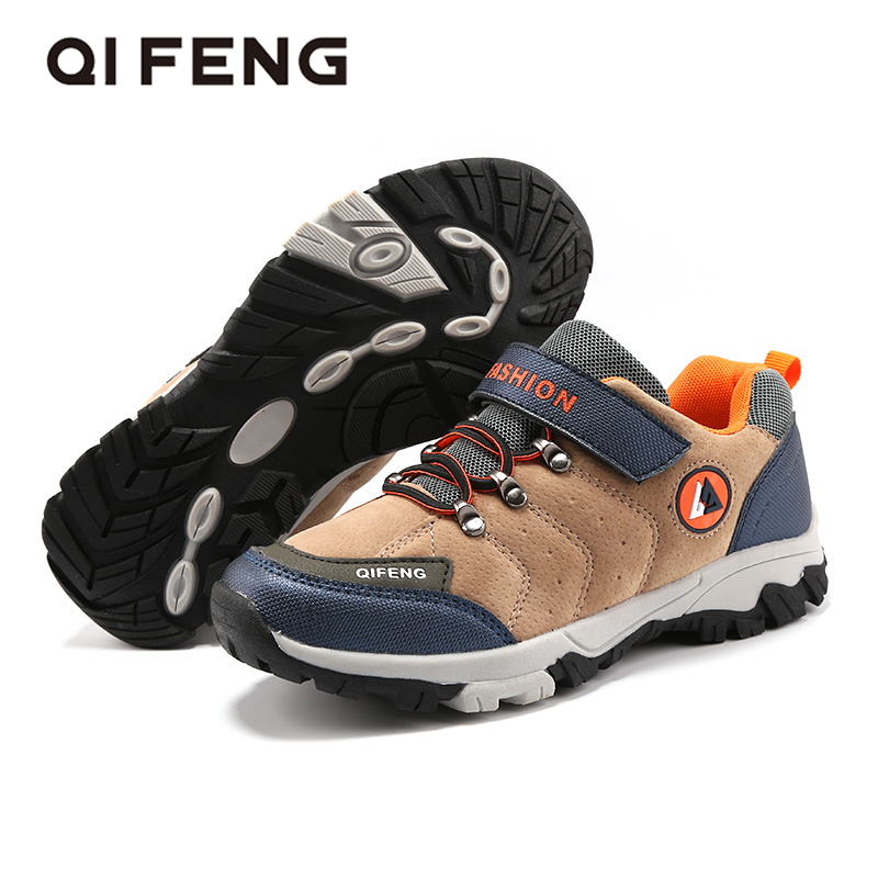 Kids Winter Shoes Boys Non-slip Winter Sneakers Outdoor Warm Ankle Boots Teenagers Mountain Climbing Trekking Hiking Children