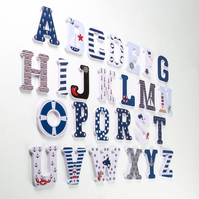3D PVC Uppercase English Alphabet Letter Stickers Kid's Room Decoration Kindergarten Playground Nursery Decorative Letters 2