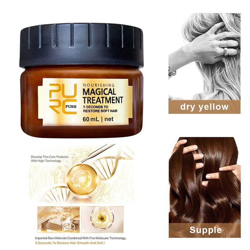 PURC Magical keratin Hair Treatment Mask 5 Seconds Repairs Damage Hair Root Hair Tonic Keratin Hair & Scalp Treatment