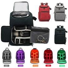 Wielofunkcyjna torba na aparat Dslr plecak uniwersalna fotografia wodoodporny plecak o dużej pojemności przenośne zdjęcie wideo podróży