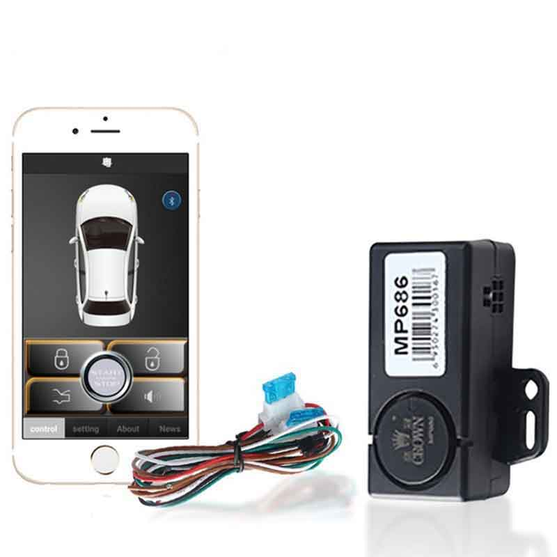 Car Alarm Security Smart Key app Keyless Entry system Car Door Lock Car Remote Automatic Trunk Opening Central Locking