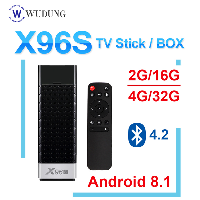 Neue X96S Mini PC Android 8.1 TV Box Stick Amlogic s905Y2 H.265 2,4/5G WIFI Core 64bit Bluetooth 4,2 4 K HD Smart Media-Player