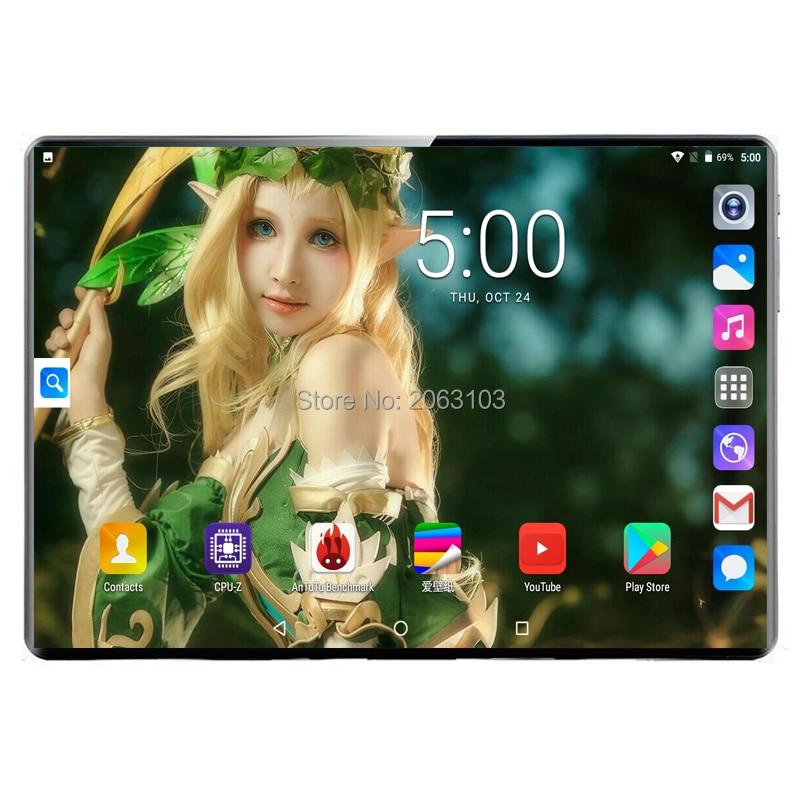 Супер закаленное 2.5D Glass3G 4G FDD LTE 10 дюймов планшетный ПК Deca Core 8 Гб ram 128 ГБ rom wifi Android 9,0 gps 1920*1200 ips экран