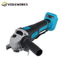 800w 18v 125mm brushless sem fio impacto ângulo moedor de velocidade variável para makita 18v bateria máquina corte moedor polidor