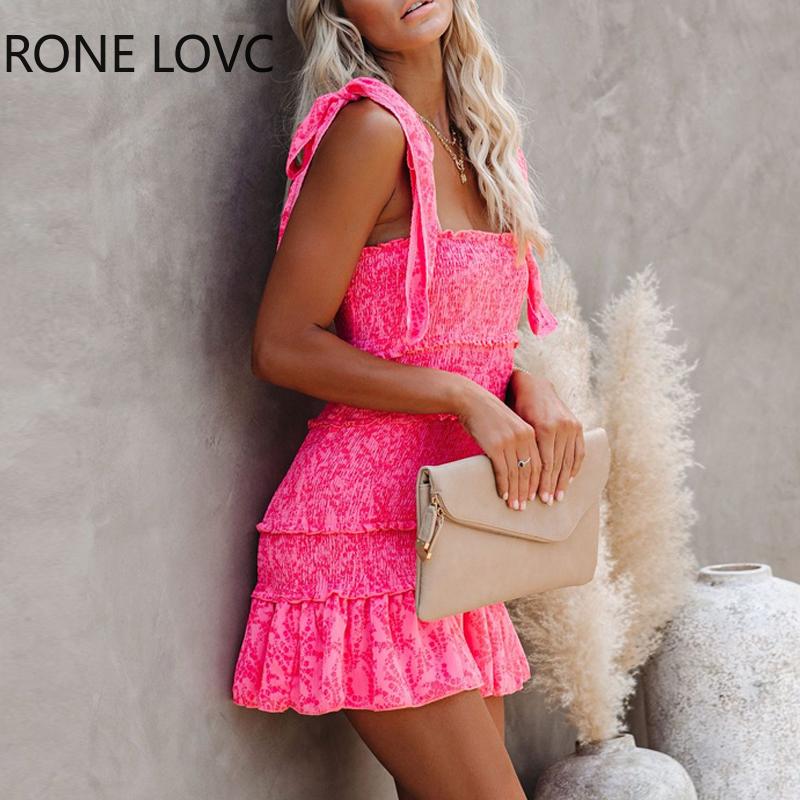 Women Tiered Ruffle Ruched Cami Dress Casual Dress  Elegant Fashion Chic Dress