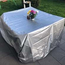 11 tailles argent imperméable à leau en plein air Patio meubles de jardin couvre pluie neige chaise couvre pour canapé Table chaise anti poussière couverture