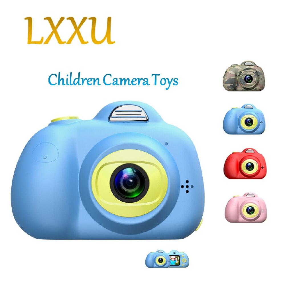 LXXU enfants caméra double 26MP caméra 2 pouces mini multifonction abs matériel sûr cadeau d'anniversaire amusant bébé enfants jouets caméra