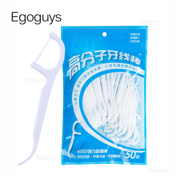100pcs White Dental Floss Pick Tooth Cleaner Sticks Oral Hygiene Care Teeth Interdental Cleaning Flosser Toothpick Tool 7.5cm 1