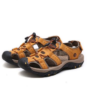 YOUQIJIA Classic Men Soft Sandals Comfortable Men Summer Shoes Leather Sandals Big Size Soft Sandals Men Roman Comfortable