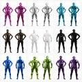 Мужское блестящее боди Zentai с металлическим блеском, костюмы с колготками на молнии сзади, Мужское боди, костюмы для косплея, костюмы на Хэлл...