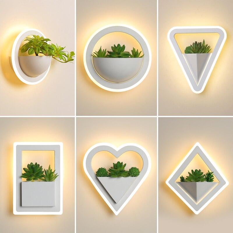 Современный светодиодный настенные светильники, с зажимным приспособлением, Nordic с круглым белым циферблатом и Nordic Стиль светодиодный наст...