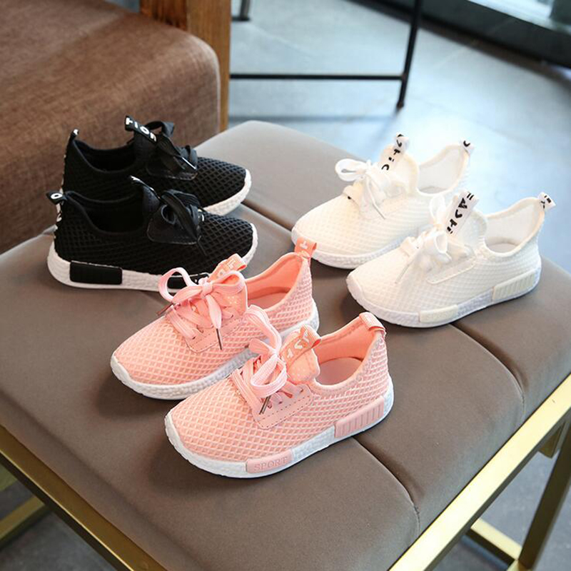 Spring Autumn Kids Shoes 2019 Fashion Mesh Casual Shoe For Boy Girl Toddler Baby Breathable Children Sports Sneakers