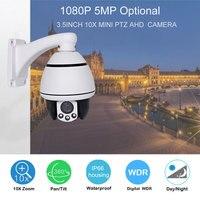 AHD PTZ Camera 5MP 10X 5inch Mini PTZ Camera 1080P 10X Zoom 30M IR Range Middel Speed Dome CCTV Camera