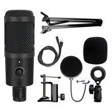 Микрофон компьютерный конденсаторный с подставкой и usb портом
