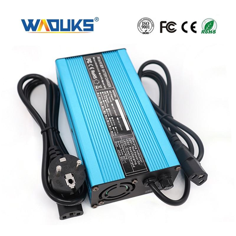 Cargador inteligente de la batería del Li ion de 63V 3A para la batería del polímero de la batería del Li ion de 15S 55,5 V Scooter Eléctrico cargador de bicicleta y Refrige-in Cargadores from Productos electrónicos    1
