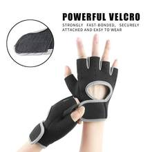 Anti-slip Sports Dumbbell Exercise Training Cycling Gloves Breathable Horizontal Bar Gym Wrist Pull-up Half Finger Glove(China)