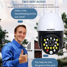 INQMEGA IP Camera 2.4MP PTZ High Wifi Camera Outdoor Waterproof Automatic Tracking Home Monitoring Alarm Cloud Network Wireless