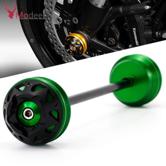 Eixo da roda dianteira garfo roda protetor slider acidente para kawasaki z800 z900rs z1000 z650 z750 z750s z900 acessórios da motocicleta