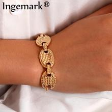 Punk Heavy Metal Chunky Chain Bracelet Bangle for Women 2020 Fashion Goth CCB Material Bracelets Hand Jewelry Couple Gift
