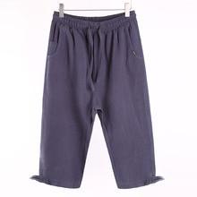 Linen Men Shorts Casual Fashion Summer Long Cargo S