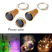 Light Outdoor Led-String Red-Wine-Bottle-Plug Christmas-Party-Decor Copper-Wire Holiday