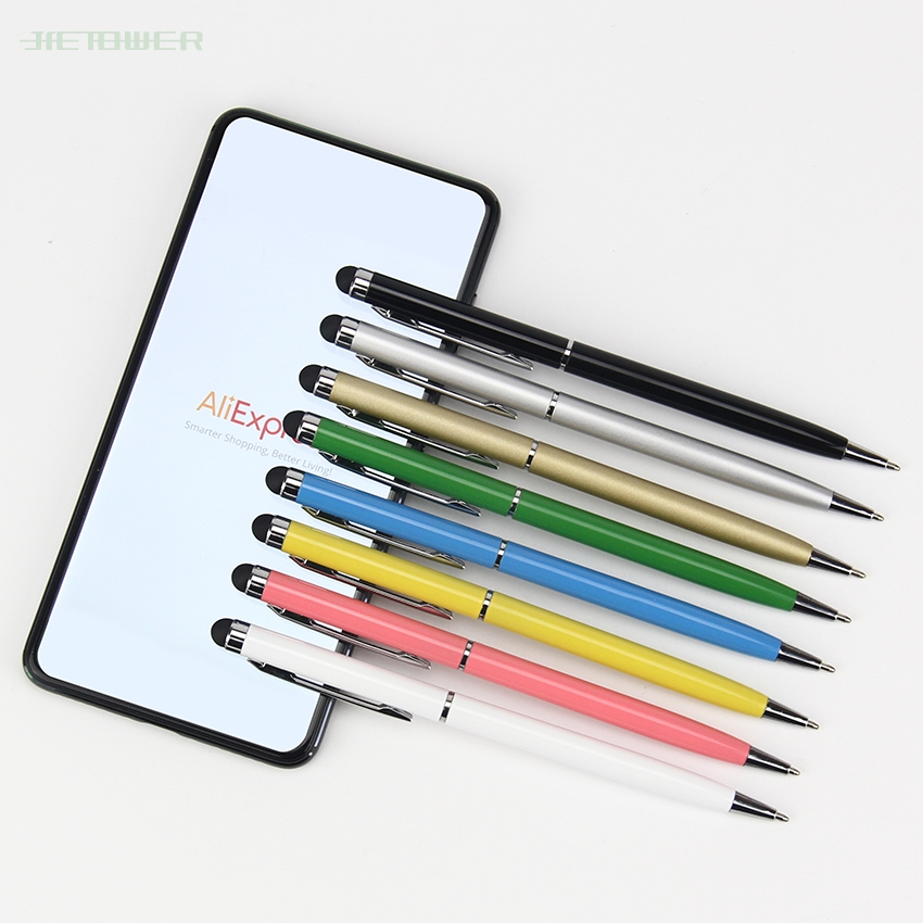 1000pcs/lot  2 In 1 Rotate Ballpoint Pen Touch Screen Stylus Pen Useful Design Tablet Pen For Iphone XS IPad Samsung Smart Phone