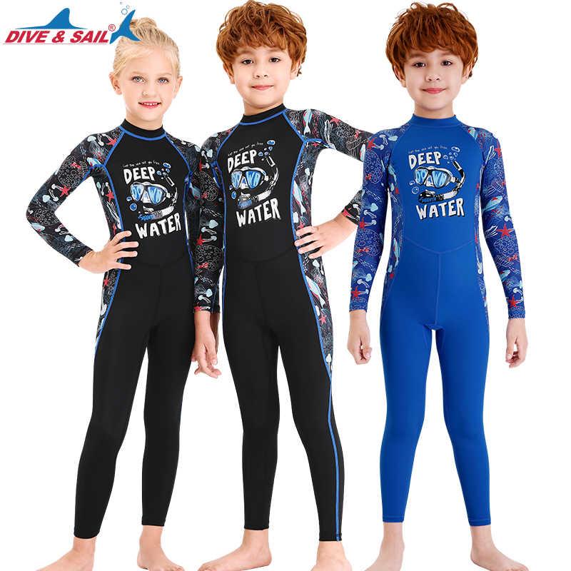 Child Kids Boys Swimwear Rash Swimsuit Bathers UV Sun Protection Surfing Suit